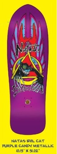 Santa Cruz Skateboard Deck Natas Evil Cat Reissue - Candy Metallic Purple - 10.13 Inch